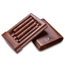 Cigar case portable cow leather cedar wood cigar moisturizing holster CF-0413-0416