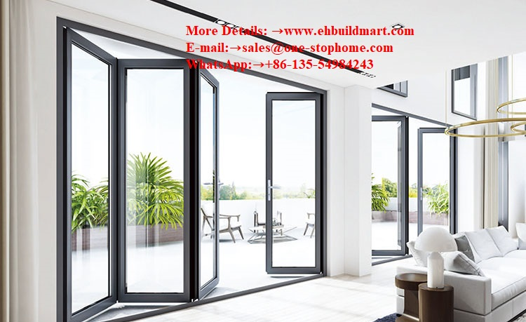 Aluminium Doors/Aluminum Folding Doors/Bifolding Glass Doors/Exterior Door/Bi-Folding Door/Sliding Folding Door