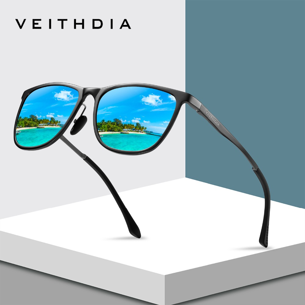 VEITHDIA Retro Aluminum Magnesium Brand Men's Sunglasses Polarized - Apparel Accessories - Photo 1