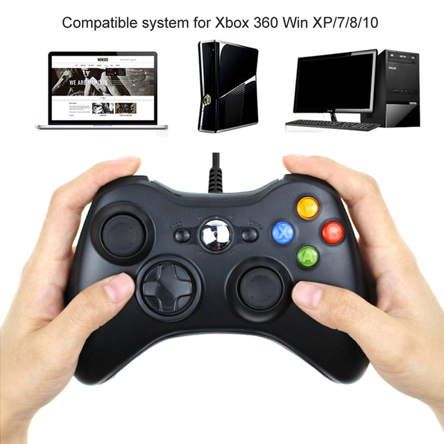 USB Wired Gamepad For Xbox 360 Controller Joystick For Microsoft PC Controle For Windows 7/8/10