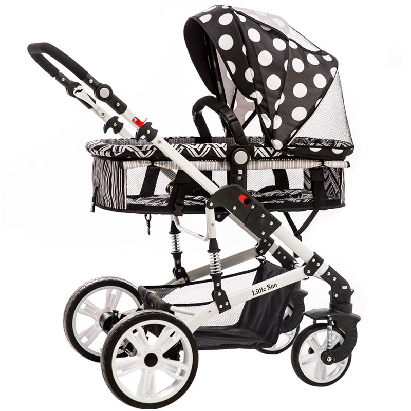 Small Sun Baby Stroller Can Sit, Lie High Landscape, Four Wheel Shock Absorbers, Wide Width Two-way Cart, Summer high landscape suspension stroller four wheel two way light folding sit lie baby cart