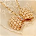 NK404 Colar Exo Bijoux Collier Arco Do Vintage Imitação de Pérolas Pingentes colares Para As Mulheres da Jóia Do Casamento Atacado collares