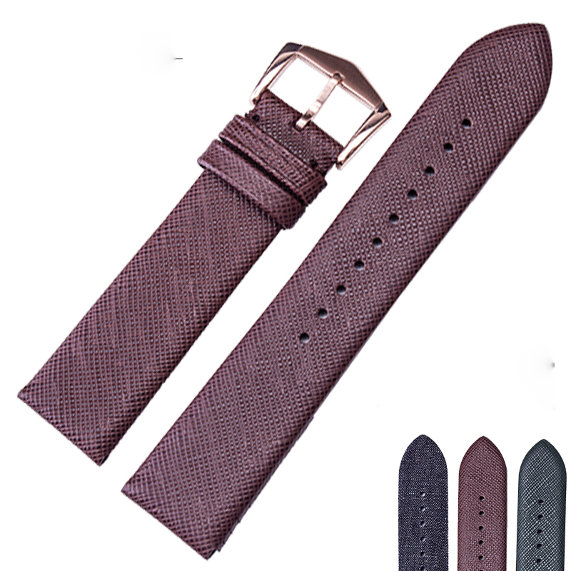 The latest! Nylon leather watch band 22mm for Armani leather plaid canvas AR1723 AR1726 1647 watch accessories цена 2017