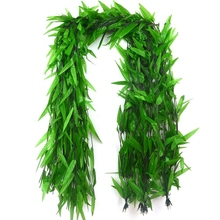 50 Strands Artificial Vine Fake Leaves Silk Willow Rattan Wicker Twig For Jungle Party Supplies