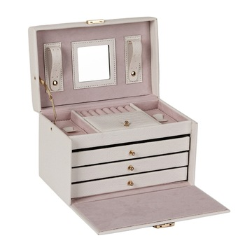 White PU Leather Jewelry Box Display