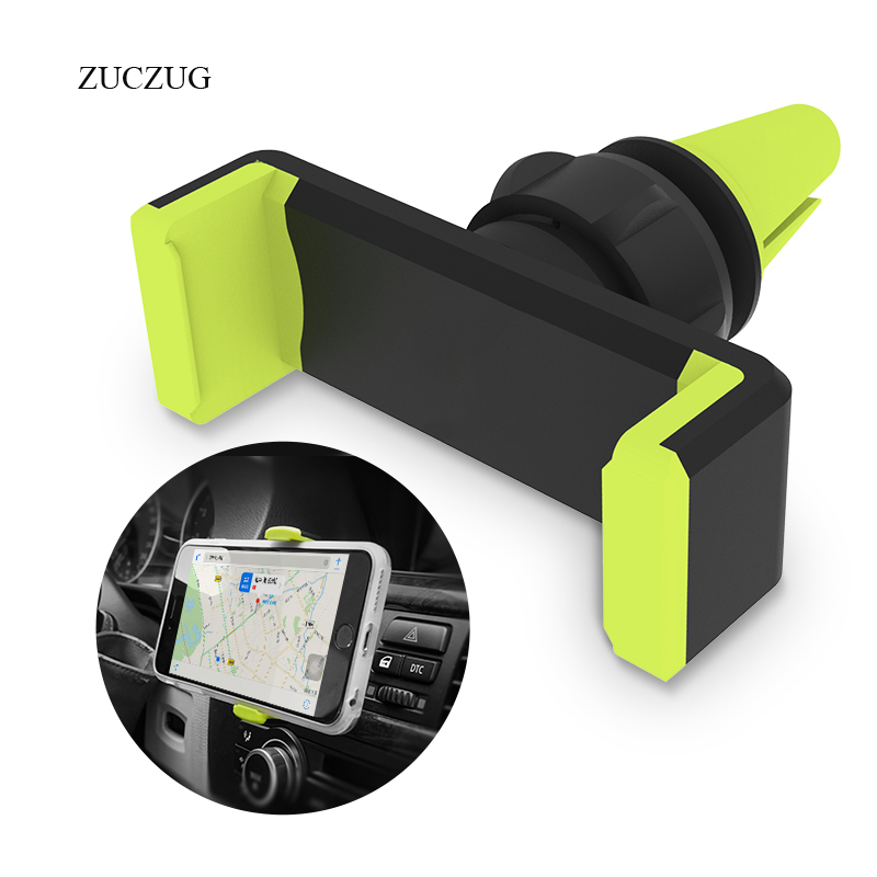 ZUCZUG Universal Car Phone Holder 360 Degree Adjustable Air Vent Mount Holder Stand For iPhone 6 7 X Samsung Soporte Movil Stand