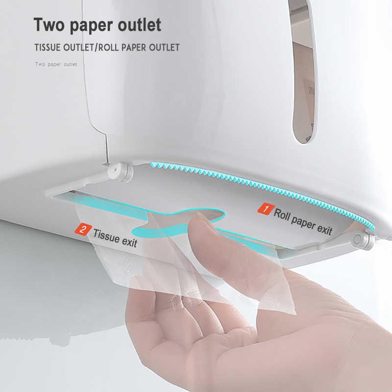 GUNOT แบบพกพาสุขาผู้ถือกระดาษติดผนังกระดาษสำหรับห้องน้ำพลาสติกกล่องเก็บกระดาษทิชชูชุดอุปกรณ์ห้องน้ำ