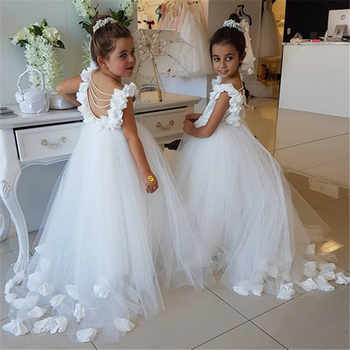 White/Ivory First Communion Dresses Girls Water-soluble Lace Infant Toddler Pageant Flower Girl Dresses for Weddings and Party - DISCOUNT ITEM  40% OFF All Category