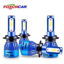 Foxcncar H4 LED Motorcycle Bulb H7 H11 9005 9006 H1 Hi/Low Led Bulb 8000LM Fog Driving Lights Scooter Front Lamp White(China)