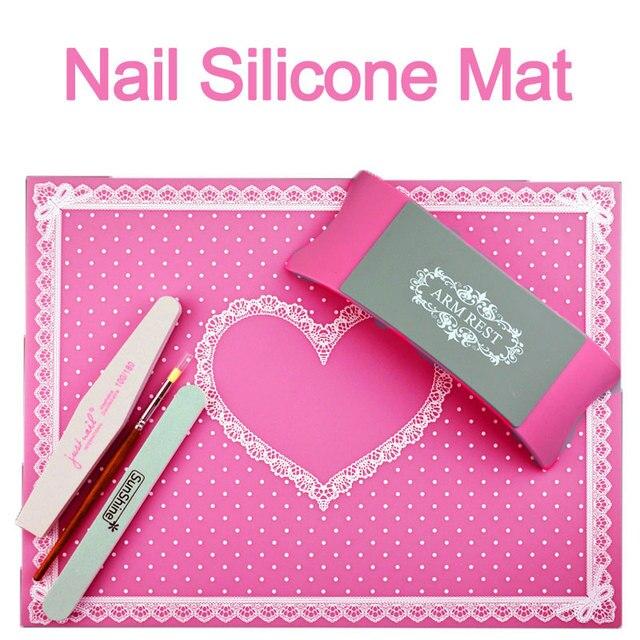 Nail Art Siliconen Tafel Mat Pad Apparatuur Geavanceerde Leuke Punt
