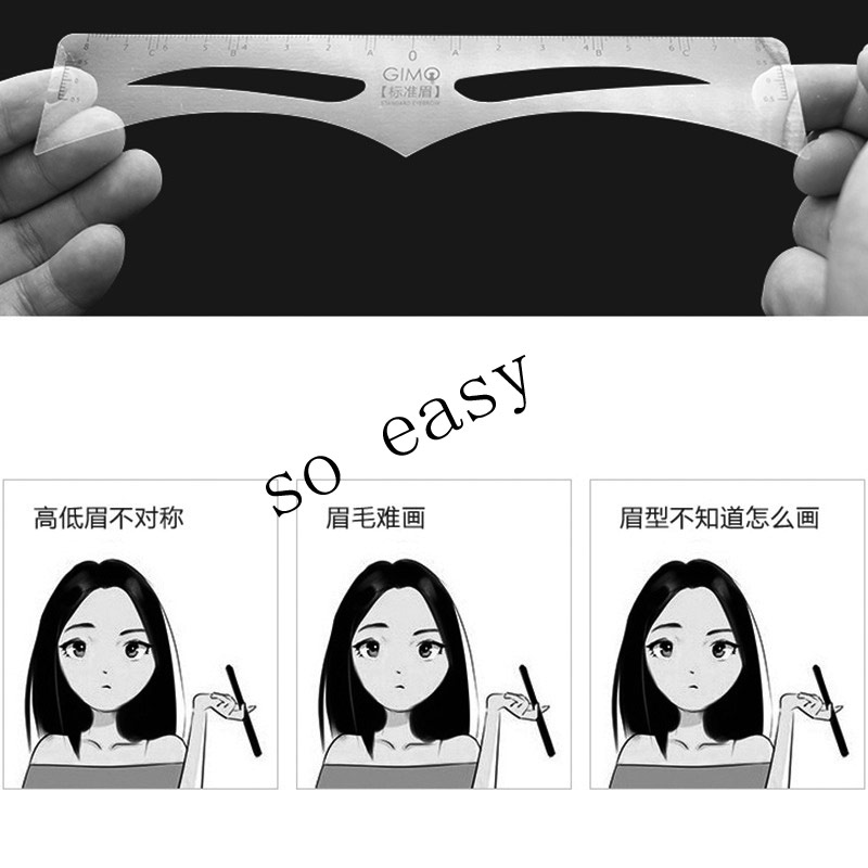 50pcsrpll Disposable Eyebrows Sticker Ruler Easy Drawing Microblading Tattoo Measure Eyebrow Shaping Sticker Template Tools (2)