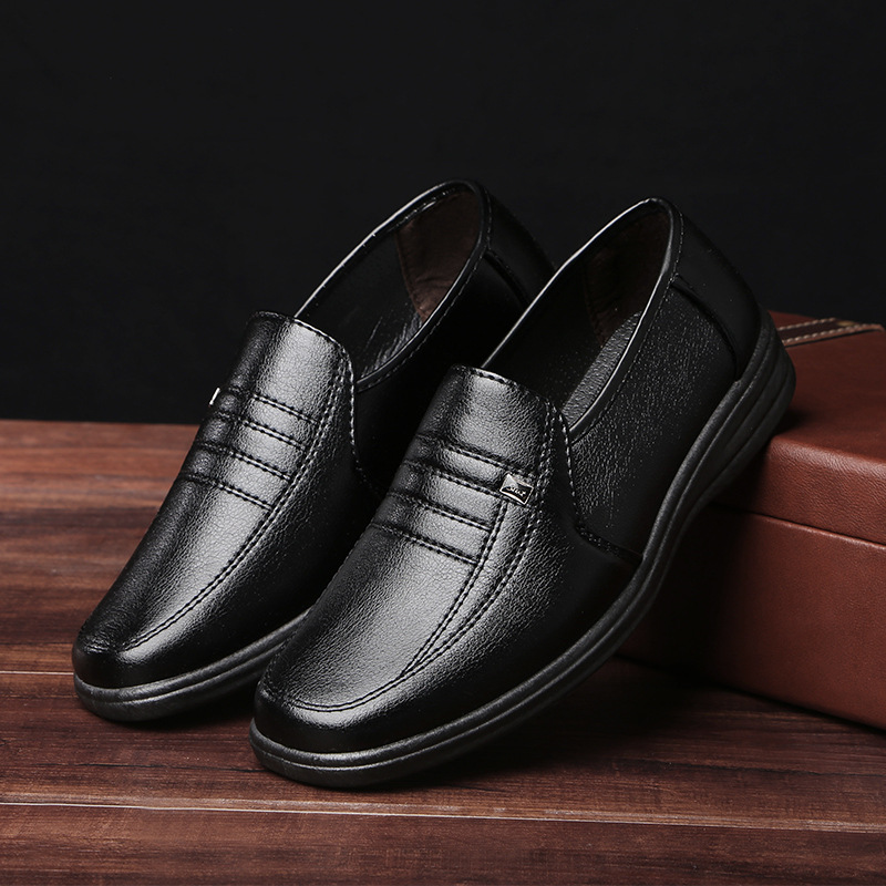 Men's business casual shoes spring 2019 new shoes men's shoes Men Casual   Suede     Leather   Loafers Black single shoes big size