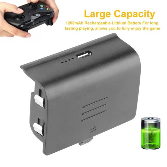1200mAh Rechargeable Battery Pack Charging Cable For Xbox One Handle Controller Kit Set Gamepad