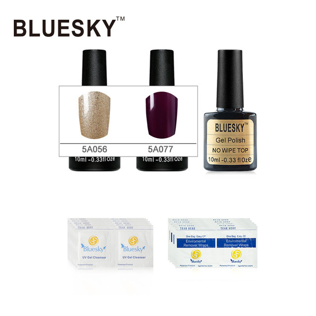 1Set 100% Genuine Best Selling Bluesky Gel Nail Polish Top Popular DIY Nail Art Gel Polish Salon 10ml Nail Gel