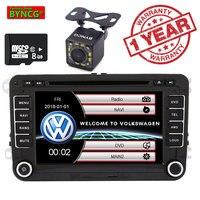BYNCG 7'' 2 din Car DVD Radio Player GPS Navigation for Golf/6/Golf/5/Passat/b7/cc/b6/SEAT/Skoda GPS MAP Bluetooth FM Stereo