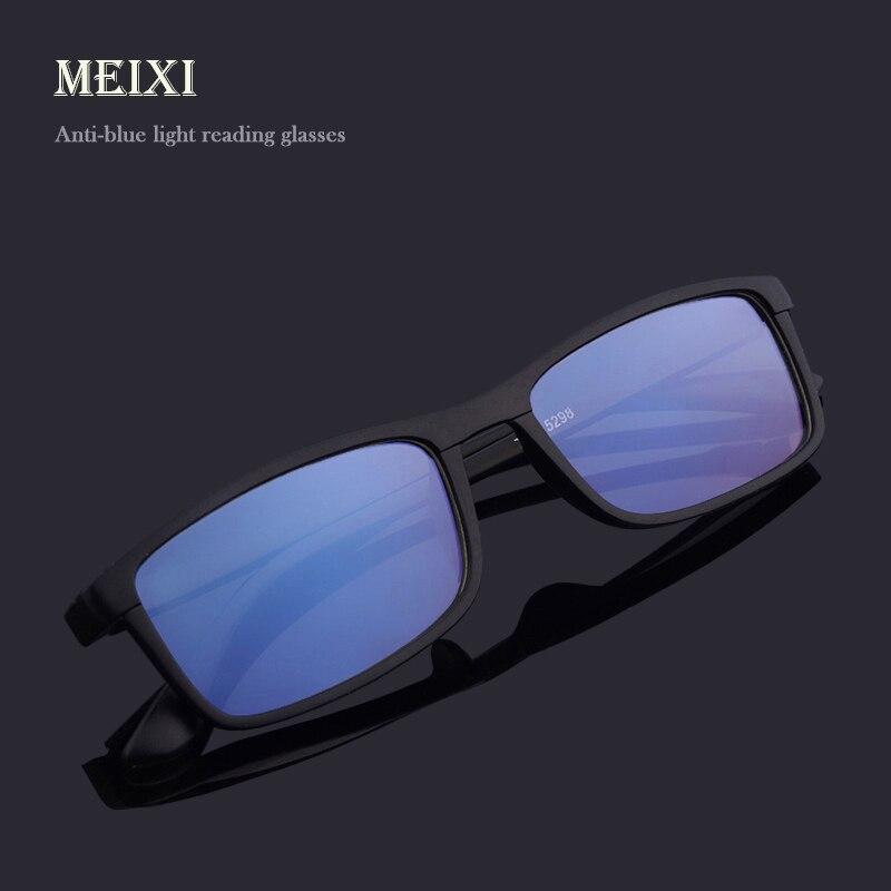 Anti-cahaya biru HD Coating perlindungan Radiasi Kacamata Baca TR90 Resin  wanita man Kacamata + a22e4fb905