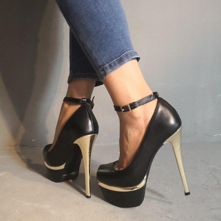 981e4322 15 Fiesta Negros EeUuTamaño De Black Finos Plataforma Yifsion Elegantes  Para Mujer Abierta Zapatos Más 5 D1222 Tacón Bonitos Punta Alto 6gyYbf7