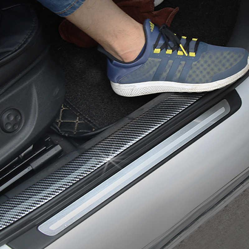 Adesivos de carro 5D Bens de Borracha Estilo De Fibra De Carbono do Peitoril Da Porta Protector Para KIA Toyota BMW Audi Ford Hyundai Mazda Acessórios