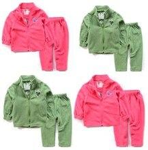 Children suit boy girl inside fleece lining the spring autumn winter brand children thermal underwear sets