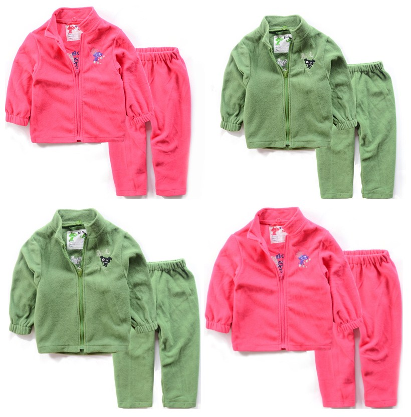 Children suit boy girl inside fleece lining inside the suit spring autumn winter suit suit brand