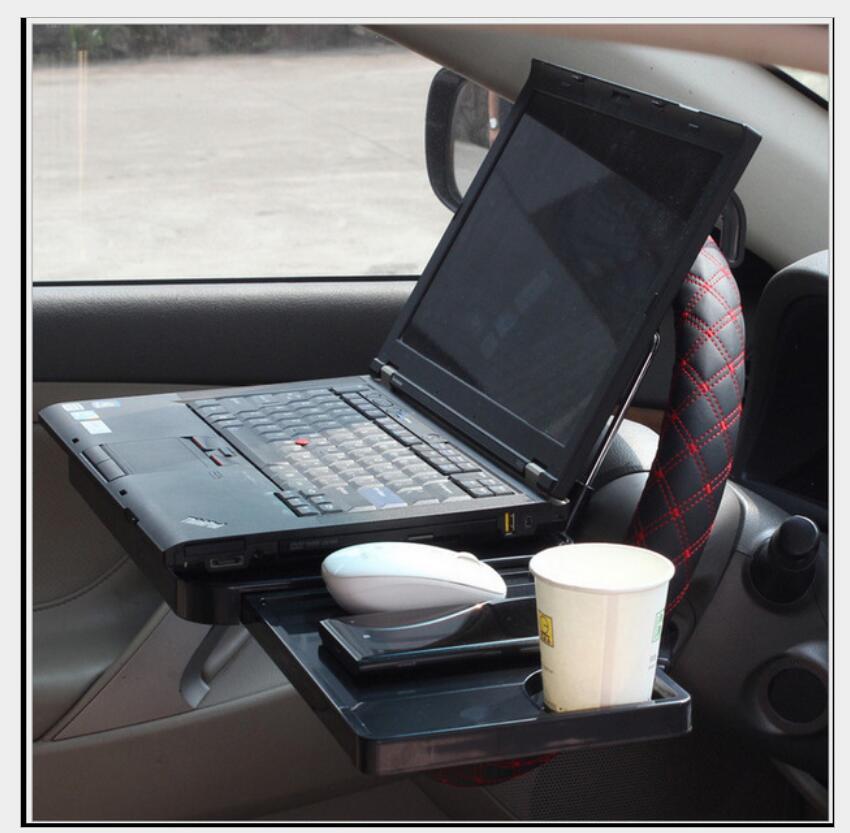 Voiture support de verre Portable bureau volant voiture pour SUV siège arrière plateau Stand travail Table à manger voiture support de verre - 2
