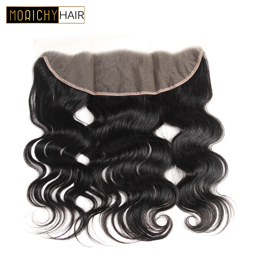 MORICH Hair Brazilian Body Wave Frontal Human Hair Ear to Ear Lace Frontal Closure Brazilian Remy Hair Natural Color