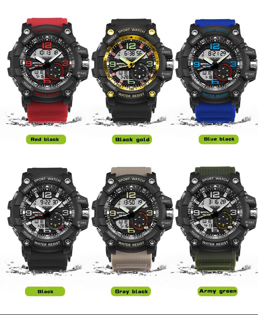 Sanda moda clássico dos homens relógios digitais