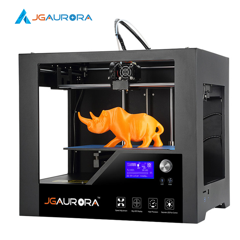 2SETS [JGAurora] Z-603S Impressor 3D Printer Unibody Screwless Metal Frame Print Size 280*180*180mm (11*7.1*7.1in)