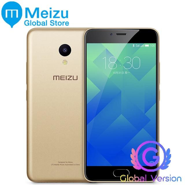 """Оригинал Meizu M5 meilan 5 16 ГБ 2 ГБ Глобальный Версия Мобильный телефон MTK MT6750 Octa core 5.2 """"13.0MP Сотовая связь отпечатков пальцев M611H"""