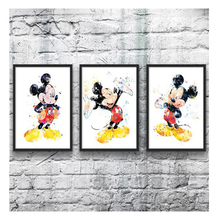Mickey Mouse and Minnie Mouse,5D, Diamond Painting, Painting Cross Stitch, Resin, Rhinestones, Full Embroidery