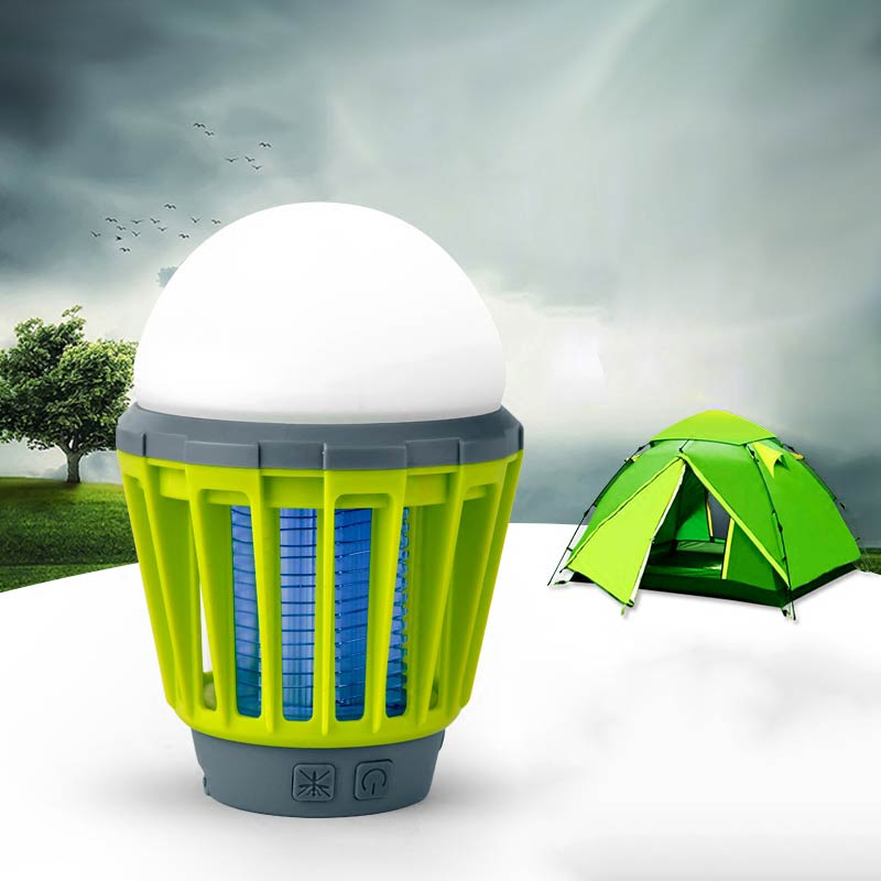 2 in 1 LED Camping Lantern Tent Light Mosquito Lamp IPX6 Waterproof Zapper Lantern for Home Outdoor --M25
