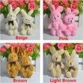 Супер Прекрасный Совместное Кролик Плюшевые Игрушки Куклы DIY Свадьба Букет Украшения 8 см 36 шт.