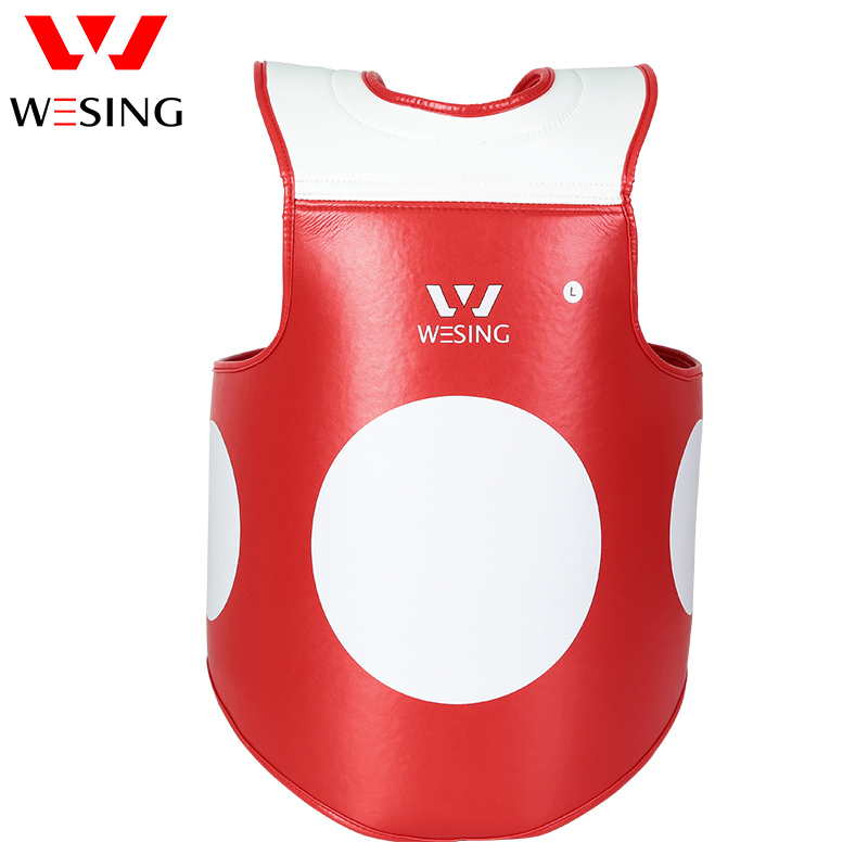 WESING Boxing Chest Guard Micro Fiber Body Shield for Training Compition Comfortable Flexible PU Chest Protector 1305 1 piecenew muay thai kick boxing training shield curve pads punch mma chest target taekwondo karate sanda chest protector target