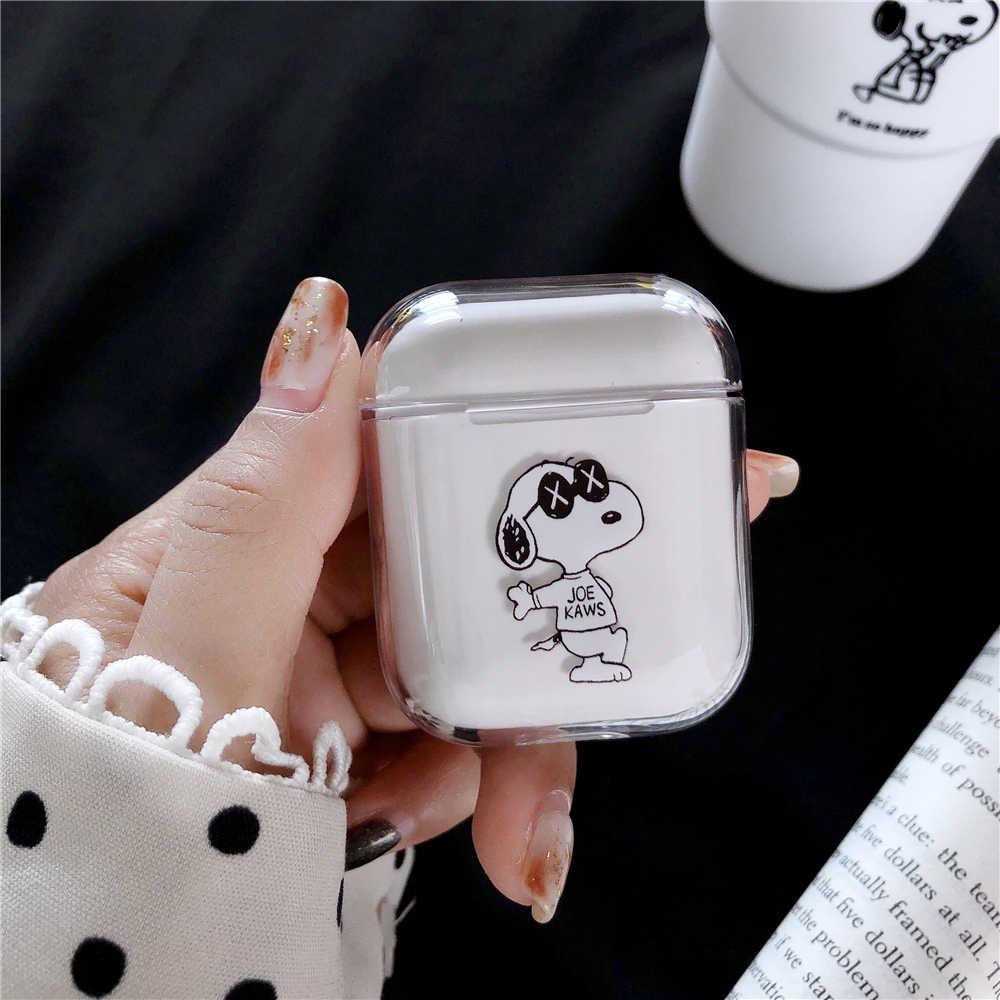 クリアハード Pc 漫画 Airpods ヘッドホンアクセサリーかわいいミッキーミニーのカップルマウス Bluetooth イヤホンカバー Coque