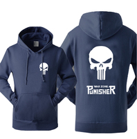 Super Hero The Punisher Skull Hooded Men 2017 Hot Sale Autumn Winter Warm Fleece High Quality