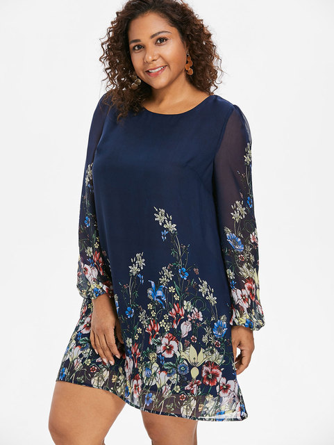 Aliexpress Buy Wipalo Navy Blue Plus Size Floral Embroidery