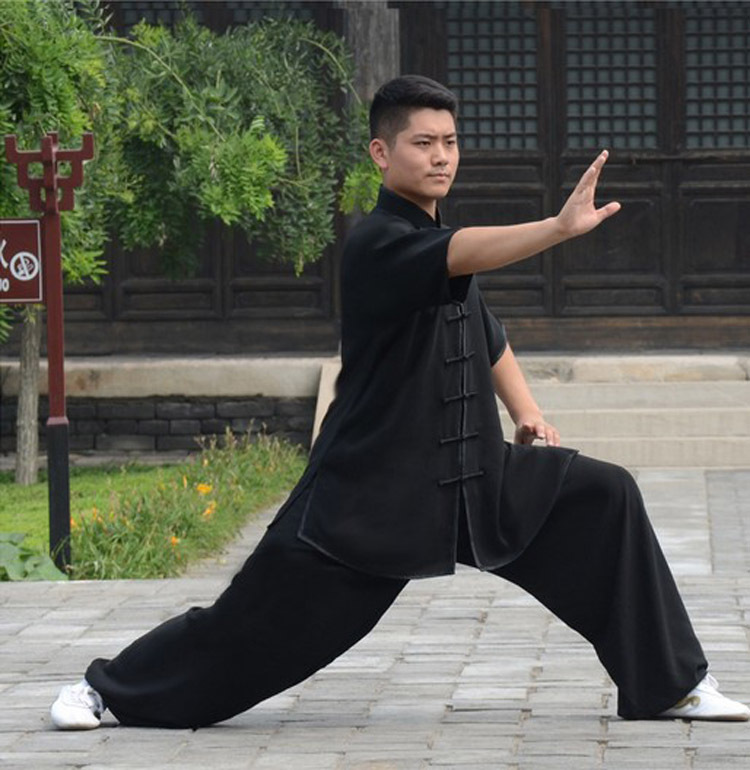 Short-sleeve Tai Chi Clothing Uniform For Men And Women