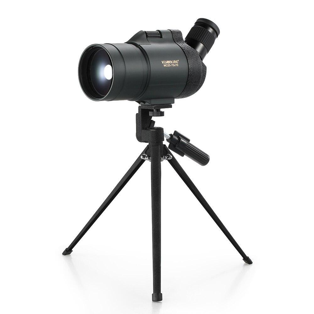Besorgt Visionking 25-75x 70 Teleskop Monokulare Wasserdichte Beschlagfrei Abgewinkelt Spektiv Monokulare Mit Einem Stativ Für Jagd Camping Monokular/fernglas