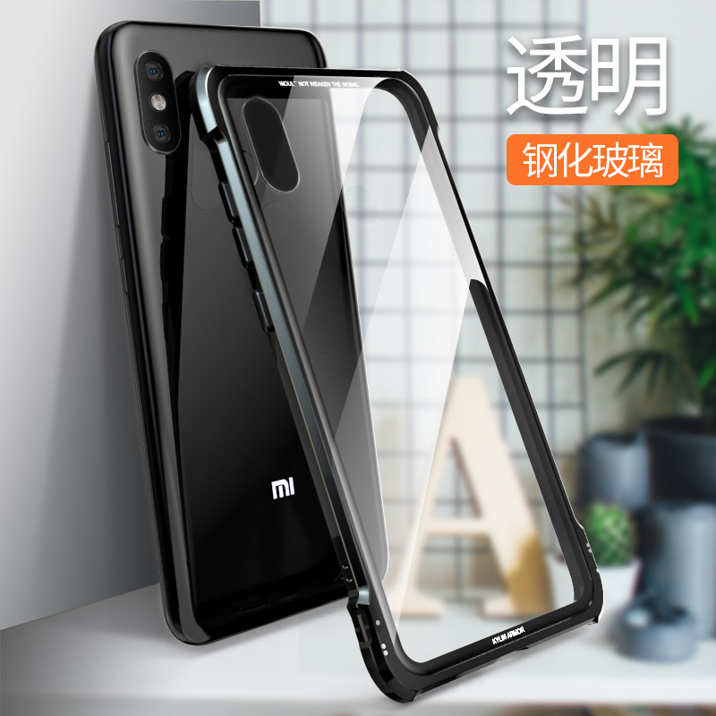 Mi 8 Glass case Luxury Clear Tempered Glass cover Aluminum metal frame Armor case for Xiaomi Mi 8 explorer case Mi8 cover