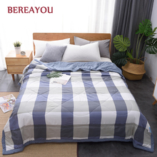Washed Cotton Quilts Queen Size Bed Quilt For Boys Single Double Kids Lazy Summer Comforter Printing Bedspread colcha verano