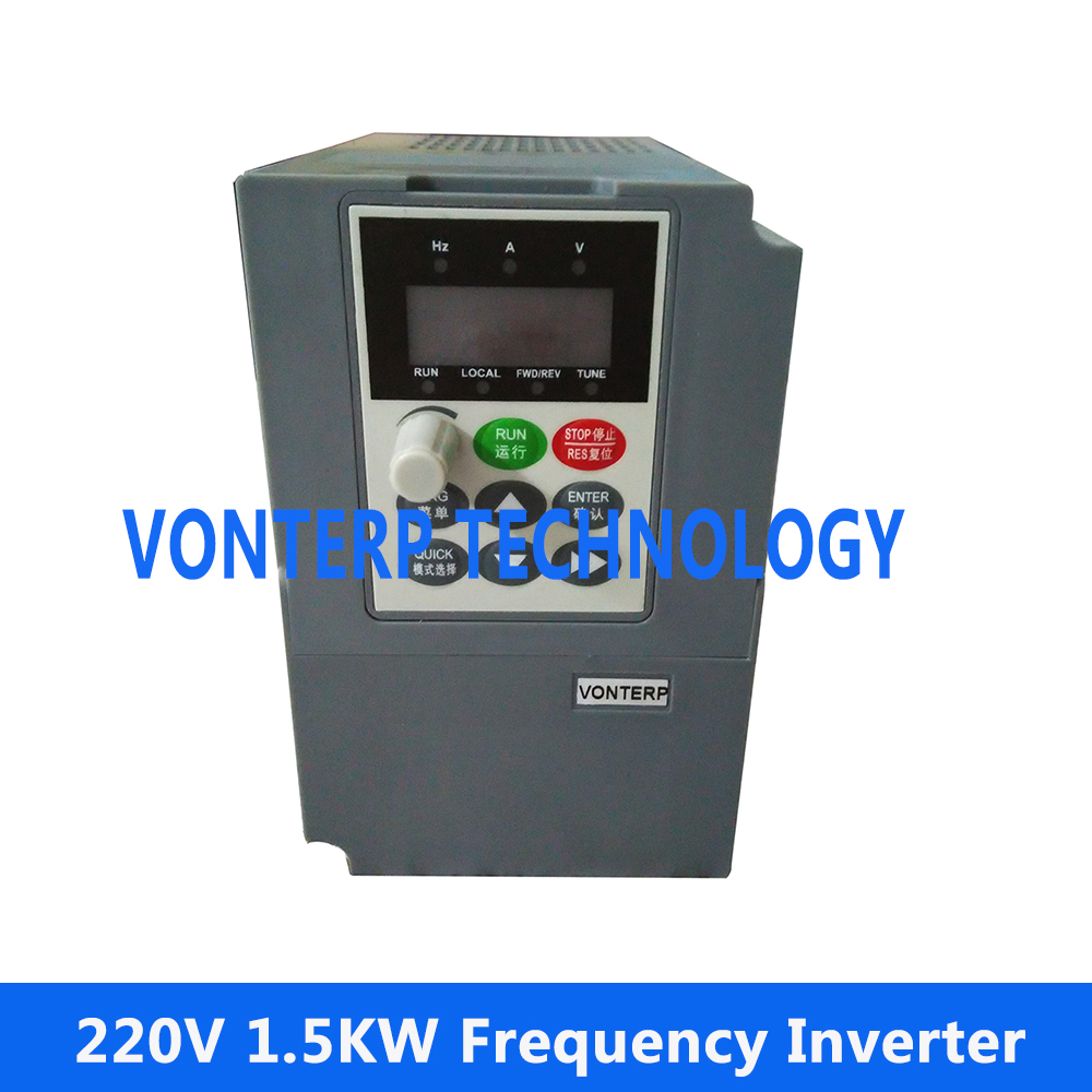 1.5KW VFD 7A 220V Single phase input and 220v 3 phase output Variable Speed Drive VSD Drive Inverter AC Drive Inverter baileigh wl 1840vs heavy duty variable speed wood turning lathe single phase 220v 0 to 3200 rpm inverter driven