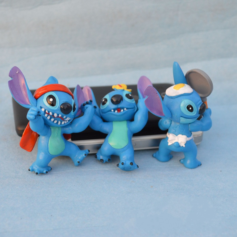 6pcs set Cartoon Movie Lilo Stitch font b Action b font font b Figures b font