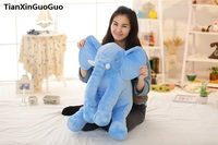 large 50cm lovely blue elephant plush toy cartoon elephant soft doll throw pillow birthday gift s0376