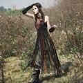 Апории. КАК Новые Поступления Весна Лето Женщин Национальный Trend Богемия Sexy Тонкий Рукавов Новинка Личность Tessel Долго Dress