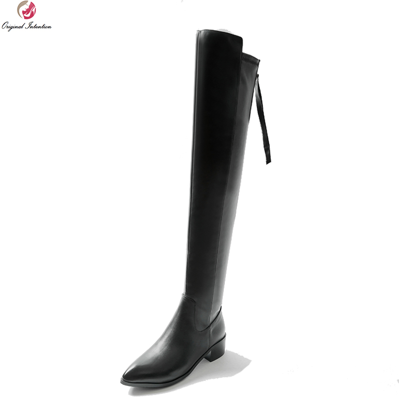 Original Intention Fashion Winter Women Boots Sexy Pointed Toe Chunky-Heel Women Boots Over-the-knee Ladies Shoes US Size 3-10Original Intention Fashion Winter Women Boots Sexy Pointed Toe Chunky-Heel Women Boots Over-the-knee Ladies Shoes US Size 3-10