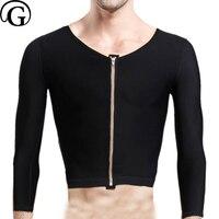 PRAYGER Для мужчин оздоровление Body Shaper Топы гинекомастия Абдо Для мужчин корсет осанка рубашка Управление груди нижнее белье