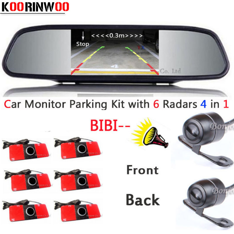 Parktronic System Reverse radar for car Car Monitor Digital Car parking Sensor Show Distance Front and back Car Rear view camera for ford escape maverick mariner car parking sensors rear view back up camera 2 in 1 visual alarm parking system