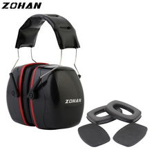 ZOHAN Ear Protection Nrr35DB  Shooting Noise Protection Earmuffs Tactical Shoot Ear Plugs  Anti-noise Ear Protect And Ear Pad hybon abs material soundproof ear muff anti noise earplug safety labor abatement noise protection shooting earmuffs for helmet