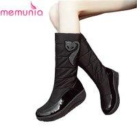 MEMUNIA Fashion New Arrive Women Boots Platform Black Brown Snow Boots Down Waterproof Mid Calf Boots