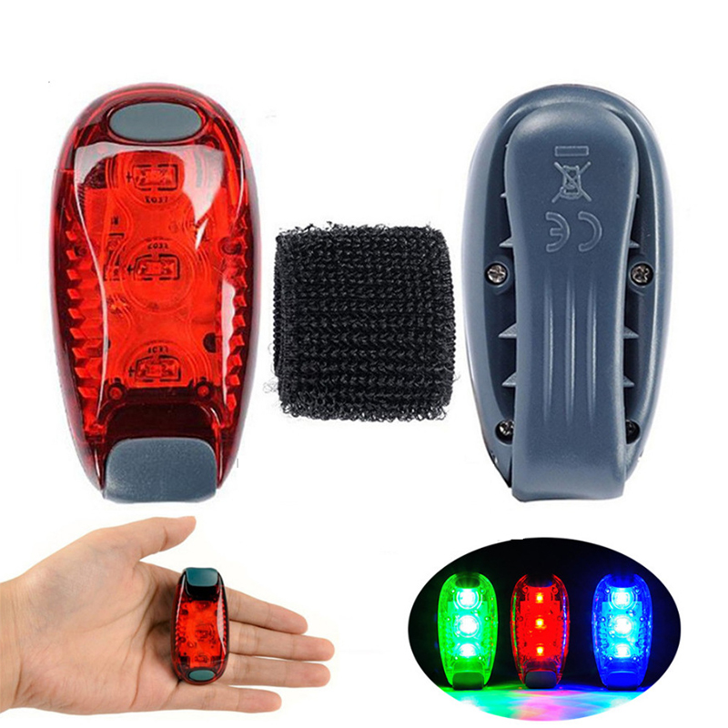 Super Bright 3 LED Bike Light Taillight Safety Warning Bicycle Rear Lamp Mountaineering Backpack Helmet Running Lights 3 Modes